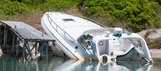 A boat accident.