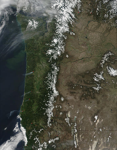 washington and oregon from space image