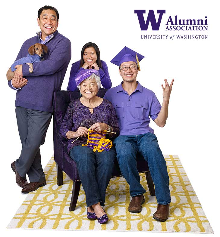 Family supporting University of Washington.
