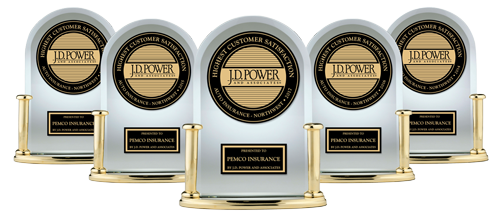 Five J.D. Power awards